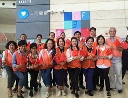 上海健康医学院领导干部国庆期间带头开展志愿者服务活动